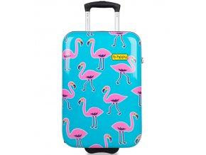 Kabinové zavazadlo B.HPPY BH-1608/3-S - Flamengogo  + PowerBanka nebo pouzdro zdarma