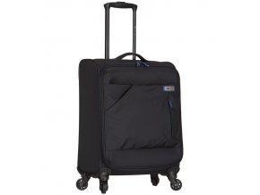Kabinové zavazadlo SPIRIT T-1123/3-S - černá/modrá  + Pouzdro zdarma