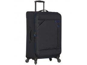 Cestovní kufr SPIRIT T-1123/3-L - černá/modrá  + PowerBanka nebo pouzdro zdarma