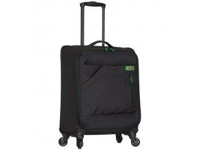 Kabinové zavazadlo SPIRIT T-1123/3-S - černá/zelená  + Pouzdro zdarma