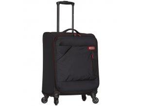 Kabinové zavazadlo SPIRIT T-1123/3-S - černá/červená  + Pouzdro zdarma