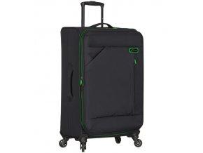 Cestovní kufr SPIRIT T-1123/3-L - černá/zelená  + PowerBanka nebo pouzdro zdarma