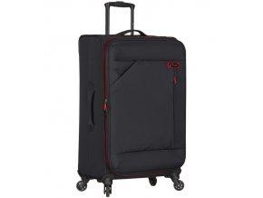 Cestovní kufr SPIRIT T-1123/3-L - černá/červená  + PowerBanka nebo pouzdro zdarma