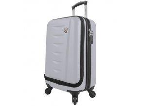 Kabinové zavazadlo MIA TORO M1014/3-S - bílá  + Pouzdro zdarma