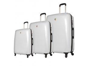 Sada cestovních kufrů MIA TORO M1015/3 - bílá  + PowerBanka nebo pouzdro zdarma