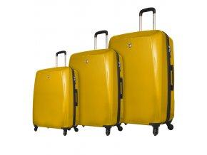 Sada cestovních kufrů MIA TORO M1015/3 - žlutá  + PowerBanka nebo pouzdro zdarma