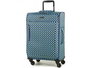 Cestovní kufr MEMBER'S TR-0131/3-M - modrá/Geo shape  + PowerBanka nebo pouzdro zdarma