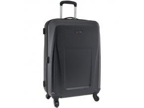 Cestovní kufr CITIES T-125/3-M ABS - černá  + Pouzdro zdarma