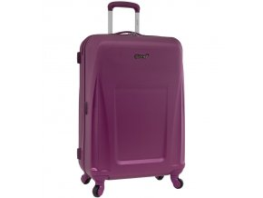 Cestovní kufr CITIES T-125/3-M ABS - fialová  + Pouzdro zdarma