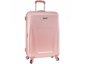 Cestovní kufr CITIES T-125/3-L ABS - růžová  + PowerBanka nebo pouzdro zdarma
