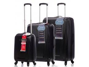 Sada cestovních kufrů CITIES T-125/3 ABS - černá  + PowerBanka nebo pouzdro zdarma