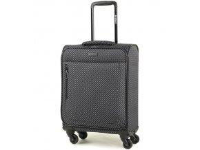 Kabinové zavazadlo MEMBER'S TR-0131/3-S - černá/bílá  + Pouzdro zdarma