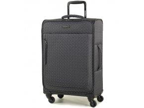 Cestovní kufr MEMBER'S TR-0131/3-M - černá/bílá  + PowerBanka nebo pouzdro zdarma