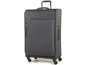 Cestovní kufr MEMBER'S TR-0131/3-L - černá/bílá  + PowerBanka nebo pouzdro zdarma