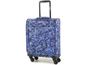 Kabinové zavazadlo MEMBER'S TR-0131/3-S - modrá/Flowers  + PowerBanka nebo pouzdro zdarma
