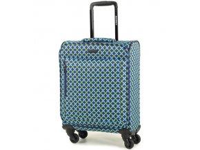 Kabinové zavazadlo MEMBER'S TR-0131/3-S - modrá/Geo shape  + Pouzdro zdarma
