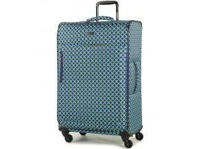 Cestovní kufr MEMBER'S TR-0131/3-L - modrá/Geo shape  + PowerBanka nebo pouzdro zdarma