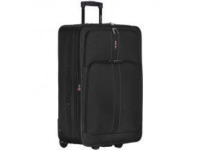 Cestovní kufr CITIES T-605/4-L - černá  + Pouzdro zdarma