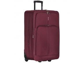 Cestovní kufr CITIES T-605/4-L - vínová  + Pouzdro zdarma