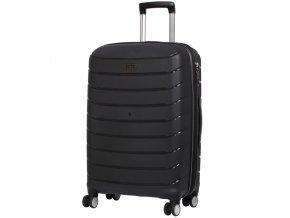 Cestovní kufr ROCK TR-0157/3-M PP - černá  + PowerBanka nebo pouzdro zdarma
