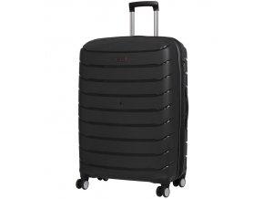 Cestovní kufr ROCK TR-0157/3-L PP - černá  + PowerBanka nebo pouzdro zdarma
