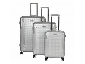Titan Cody 4w S,M,L Silver – sada 3 kufrů