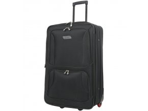 Cestovní kufr CITIES T-604/4-L - černá  + Pouzdro zdarma