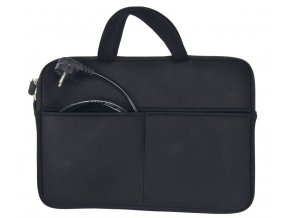 Solight neoprenové pouzdro na notebook 13'' - 14'', 2 kapsy, držadla, černé