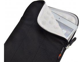 Solight nylonové pouzdro na tablet, e-čtečku do 8'', nárazuvzdorné polstrování, černé