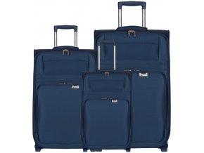 Sada cestovních kufrů AEROLITE T-9515/3 - tmavě modrá  + PowerBanka nebo pouzdro zdarma