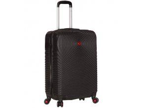Kabinové zavazadlo SIROCCO T-1157/3-S ABS - černá  + Pouzdro zdarma