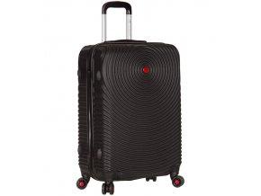 Cestovní kufr SIROCCO T-1157/3-M ABS - černá  + PowerBanka nebo pouzdro zdarma