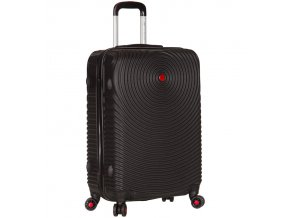 Cestovní kufr SIROCCO T-1157/3-L ABS - černá  + PowerBanka nebo pouzdro zdarma