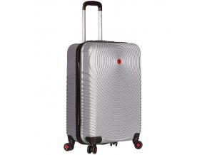 Kabinové zavazadlo SIROCCO T-1157/3-S ABS - stříbrná  + Pouzdro zdarma