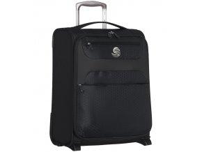 Kabinové zavazadlo ECO-LITE T-1161/3-S - černá  + Pouzdro zdarma