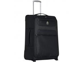 Cestovní kufr ECO-LITE T-1161/3-M - černá  + Pouzdro zdarma
