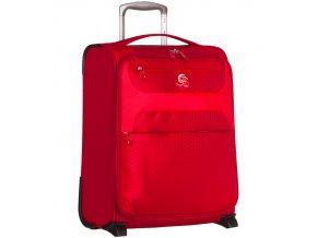 Kabinové zavazadlo ECO-LITE T-1161/3-S - červená  + Pouzdro zdarma
