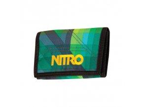 NITRO peněženka WALLET geo green