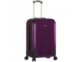 Kabinové zavazadlo SIROCCO T-1159/3-S PC - fialová  + PowerBanka nebo pouzdro zdarma
