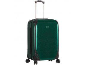 Kabinové zavazadlo SIROCCO T-1159/3-S PC - zelená  + PowerBanka nebo pouzdro zdarma