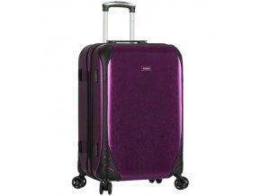 Cestovní kufr SIROCCO T-1159/3-M PC - fialová  + PowerBanka nebo pouzdro zdarma