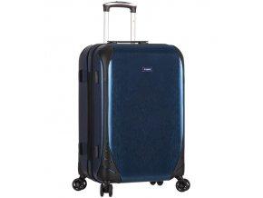 Cestovní kufr SIROCCO T-1159/3-M PC - modrá  + PowerBanka nebo pouzdro zdarma