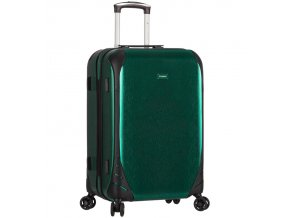 Cestovní kufr SIROCCO T-1159/3-M PC - zelená  + PowerBanka nebo pouzdro zdarma