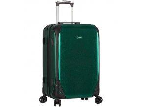 Cestovní kufr SIROCCO T-1159/3-L PC - zelená  + PowerBanka nebo pouzdro zdarma