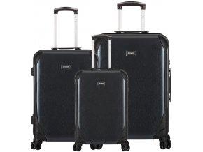 Sada cestovních kufrů SIROCCO T-1159/3 PC - černá  + PowerBanka nebo pouzdro zdarma