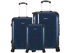 Sada cestovních kufrů SIROCCO T-1159/3 PC - modrá  + PowerBanka nebo pouzdro zdarma