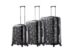 Sada cestovních kufrů MIA TORO M1089/3 - černá  + PowerBanka nebo pouzdro zdarma