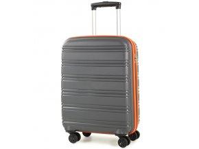 Kabinové zavazadlo ROCK TR-0164/3-S PP - šedá/oranžová  + PowerBanka nebo pouzdro zdarma