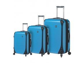 Sada cestovních kufrů MIA TORO M1021/3 - modrá  + PowerBanka nebo pouzdro zdarma