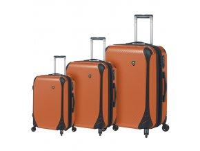 Sada cestovních kufrů MIA TORO M1021/3 - oranžová  + PowerBanka nebo pouzdro zdarma
